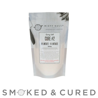 Misty Gully Curing Salt Cure #2 - 500g  Prague Powder 2 - 4% nitrate 6% nitrite
