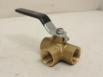 164724 Old-Stock, Industry Standard 1PZA1 Ball Valve, Lever, 1/2 FNPT, Brass