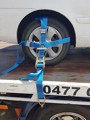 Car Carrying Ratchet Tiedown, Trailer Tie Down, Car Wheel Harness