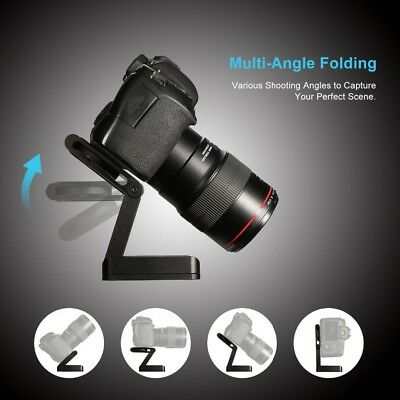 Z-Type DSLR Camera Folding Tripod Flex Pan & Tilt Ball Head Desktop Stand Holder