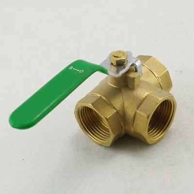 """3/4"""" inch BSPP Female  Brass Ball Valve T-Port 3 Way Connection"""