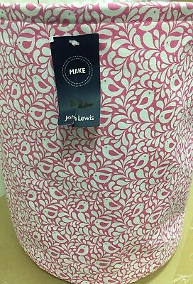 Robin pink sewing craft bucket ex John Lewis RRP £18 fabric laundry basket