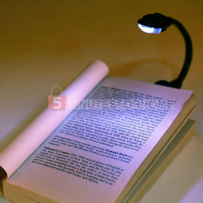 Clip On LED Book Reading Bright Light Lamp Laptop Amazon Kindle iPad Travel