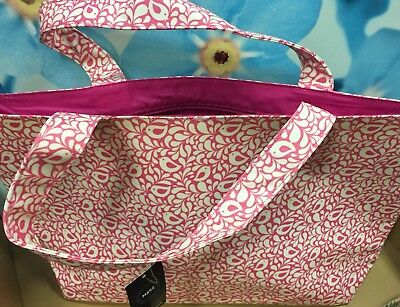 Robin pink PVC Shopper shopping bag ex John Lewis RRP £18 LARGE
