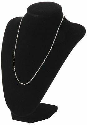 1x Black Jewelry Necklace Choker Display Stand Bust Neck Velvet Showcase