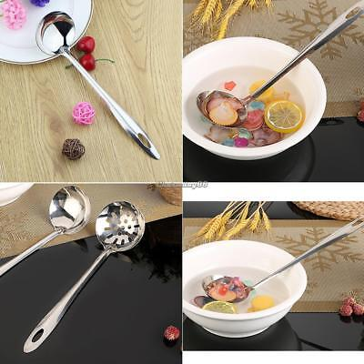 Spoon Soup Ladle Stainless Steel Spoon Colander Filter Strainer Kitchen C1MY