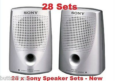 bulk lot 28 Sets New Sony SRS P7 Passive Lightweight Speakers For PC,IPOD