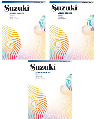 Suzuki Violin School Part - Revised Edition - Vo.1, 2 oder 3 - auch mit CD