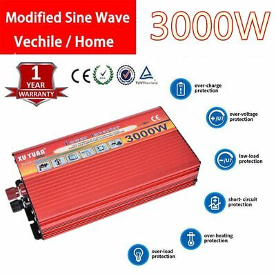 New 3000W DC 12V to AC 110V Car Power Inverter Charger Converter for UZ