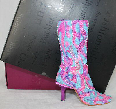 Just the Right Shoe Perfectly Python 25151 Tall Boot In Box Paperwork Funky COA