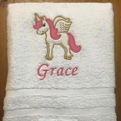 Custom Embroidered Towel, Hand Towel, Face Washer. Personalised / Personalized w