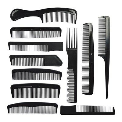 11 Hair Combs Professional Salon All Types Cutting Pin Tail Backcombing Barbers