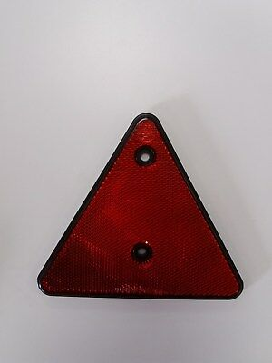 4 x Red Reflective Warning Triangles 150mm sides Caravans, Trailers Fence Posts