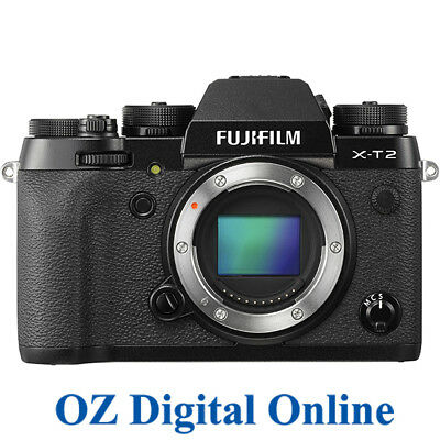 NEW Fujifilm X-T2 Body Black Mirrorles 24.3MP 4K Wifi Digital Camera 1 Yr AusWty