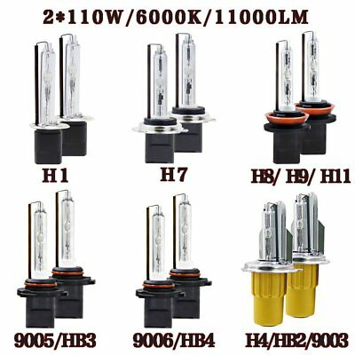 110W HID Xenon Headlight KIT Bulbs H1 H7 H8 H9 H11 9005 HB3 9006 HB4 H4 HB2