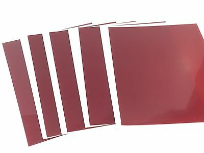 """5 Sheets 8 1/2 X 11"""" RUBYLITH Red Masking Film .003 Graphic Arts Block UV Rays"""