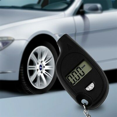 Mini LCD Digital Tire Tyre Air Pressure Gauge Tester Keychain Designs L9