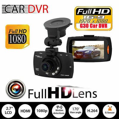 "1080P 2.7"" LCD Car Camera Full HD Dash Cam Crash DVR G-sensor Night Vision V9"