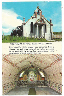 ORKNEY The Italian Chapel, Lang Holm, Old Postcard by Photo Precision, Unused