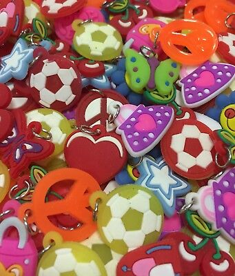 Small Silicone CHARMS card craft mini decoration toppers 3D x50 x100 bulk pack