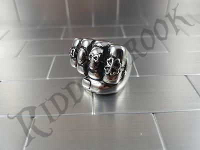 Stainless steel Fist biker ring Harley Davidson Triumph chunky punch punk