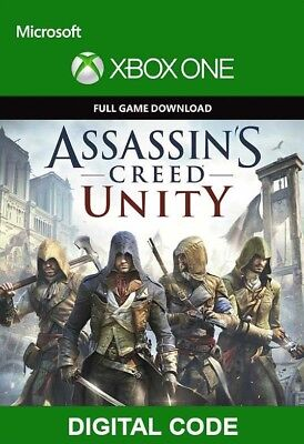 Xbox One Assassin's Creed Unity Spiel Vollversion Key Digital Download Code DE