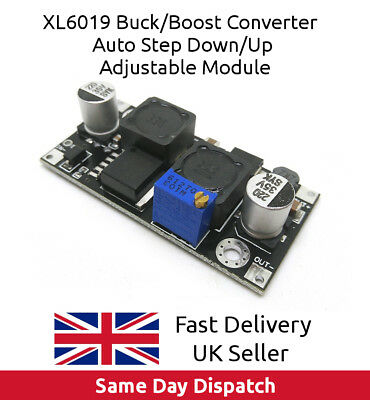 XL6019 DC-DC Constant Voltage Power Supply Step Up Down Automatic Buck Boost, UK