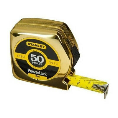 Stanley Golden 50 Year PowerLock Tape 5m Limited Edition Very Strong Quality