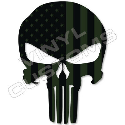 PUNISHER Vinyl Decal Sticker Die-Cut Skull