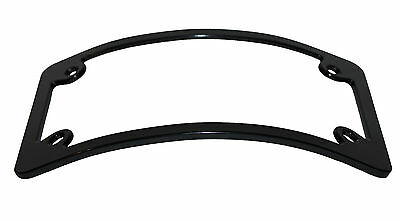 Motorcycle Curved License plate Frame Black