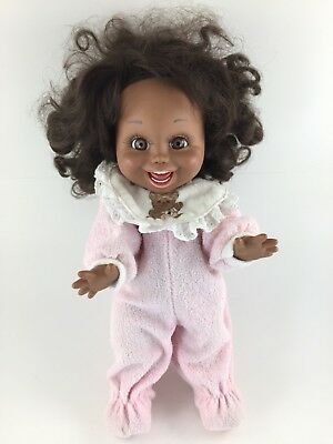 1990 Galoob Baby Face Doll So Funny Natalie Black African American LGTI #5 Gown