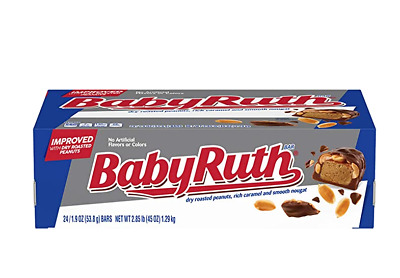 Nestle Baby Ruth Milk Chocolate Candy Bars, 1.9 Ounce Bar (Pack of 24)
