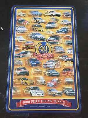 Bathurst 1000 Collectable Tin, Empty Puzzle Tin, 40 Years The Great Race