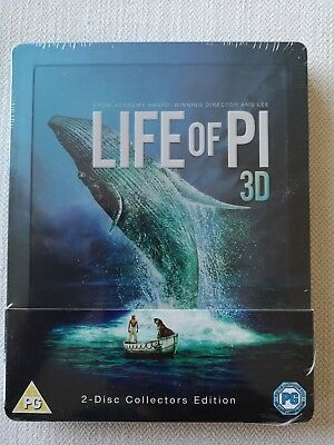 Life of Pi 3D (Includes 2D Version) - Embossed Limited Edition Steelbook