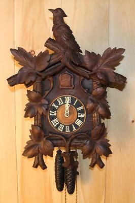 Antique German Black Forest George Kuehl Cuckoo Clock ~ Circa 1910 ~