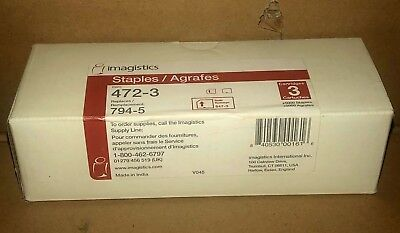 Imagistics 472-3 Staples Box of 3 Cartridges New