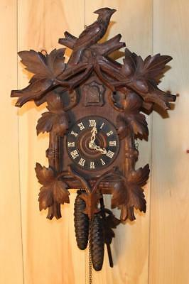 Antique German Black Forest 'GK' Cuckoo Clock ~ Circa 1910 ~ Rare Oak Case