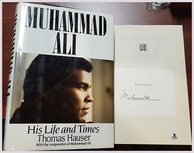 """""""Muhammad Ali"""" Book Authentic Autographed  His Life and Times"""