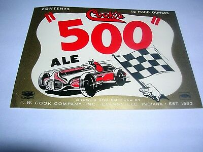 COOK'S  500  ALE  F.W.COOK Company Evansville Indiana USA