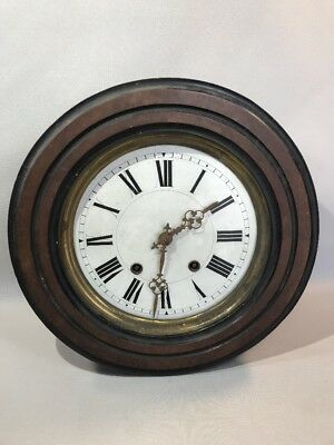 Antique clock mechanical period Napoleon III to revise sold without key