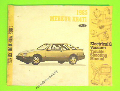 1988 ford merkur xr4ti service repair manual shop electrical vacuum rh picclick co uk