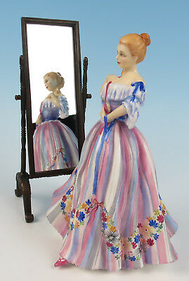 Royal Doulton Gentle Arts Adornment HN 3049 Porcelain Figurine LE Lady w/ Mirror