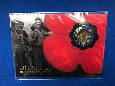 2012 $2 two dollars Remembrance Coin -  Carded by SHERWOOD