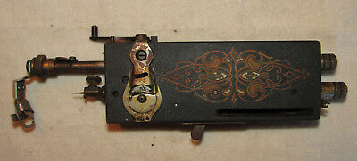 Antique Sewing Machine From Plate Cover, Front Box Cover, Foot Pedal Etc