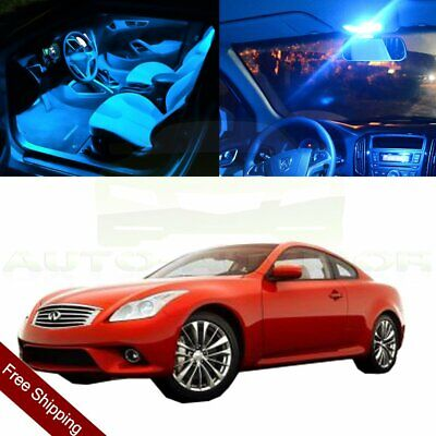 9x Interior Ice Blue 12V Bulbs For Infiniti G37 2009 2014 Car LED Lights  Package