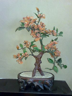 Rare Chinese Art Petal Bonzai Tree Bonsai Asian Oriental Flowers Trunk