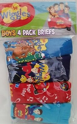 THE WIGGLES Licensed Boy 4x briefs undies jocks cotton NEW sizes 2-3 , 3-4 , 4-6