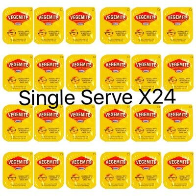 Vegemite Single Serve Portions x24| Australian Spread Snack | Travel Size Sachet