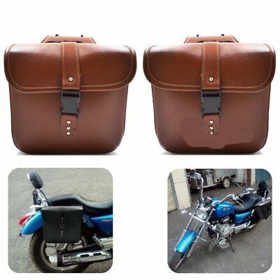 Universal Motorcycle Saddle Bags Side Storage Tool Pouches PU Leather ForCJ