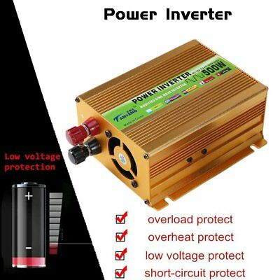 PRO Peak 2000W  Sine Wave Power Inverter DC 12V to AC 220V Car Converter